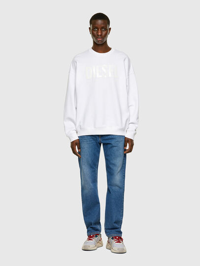 Diesel - S-MART-INLOGO, White - Sweaters - Image 4