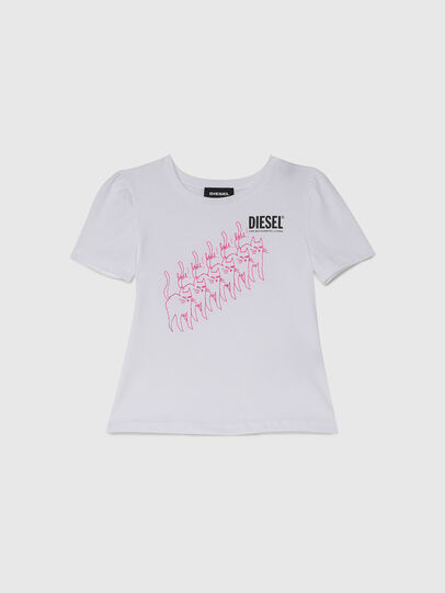 Diesel - TLOPPIB-R, White - T-shirts and Tops - Image 1