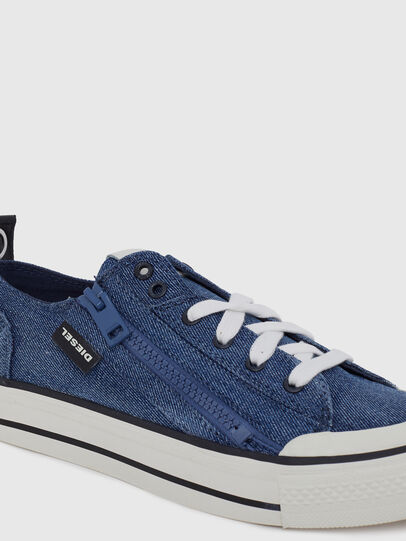 Diesel - S-ASTICO LOW ZIP W, Blue Jeans - Sneakers - Image 4