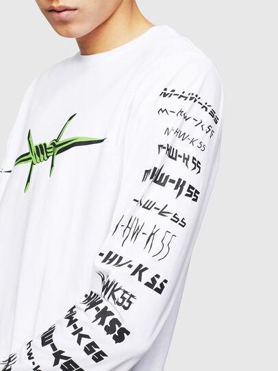 Diesel - T-JUST-LS-B2, White - T-Shirts - Image 3