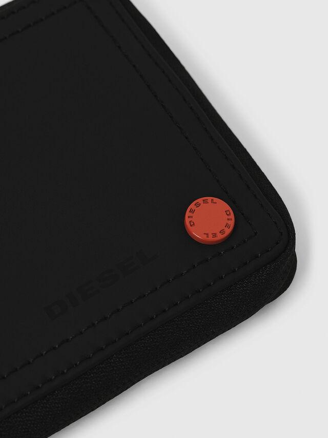 Diesel - ZIPPY HIRESH S, Black/Red - Zip-Round Wallets - Image 4