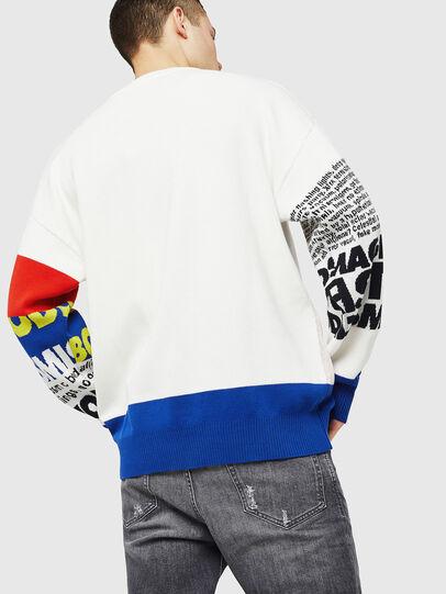 Diesel - K-RUBLO, White/Red/Blu - Knitwear - Image 2
