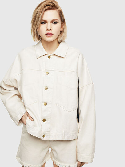 Diesel - DE-JALA, White - Denim Jackets - Image 1