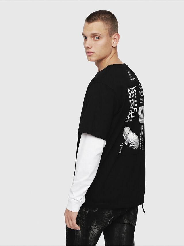 Diesel - T-SHOOT-YA, Black - T-Shirts - Image 3