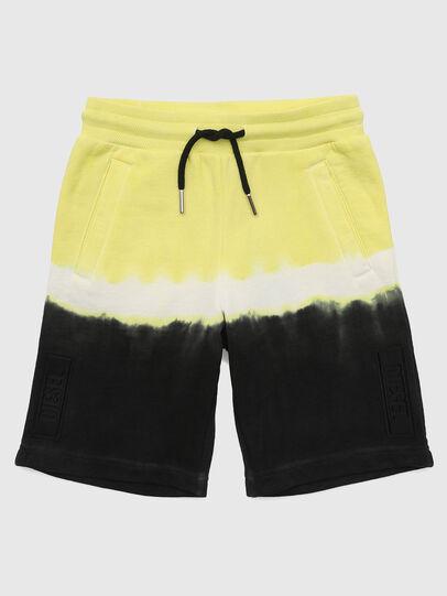 Diesel - PTOXDEEP, Black/Yellow - Shorts - Image 1
