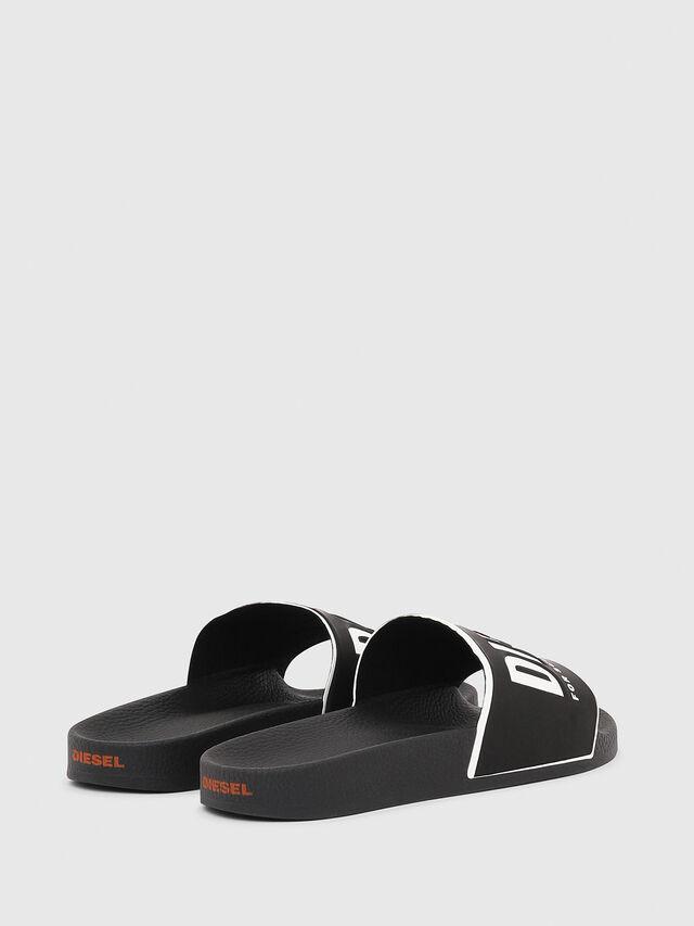 Diesel - SA-VALLA W, Black/White - Slippers - Image 3