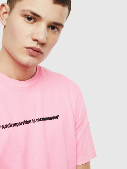 Diesel - T-JUST-NEON, Pink - T-Shirts - Image 5