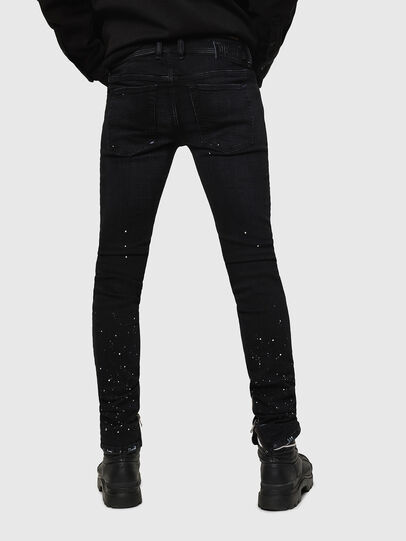 Diesel - Sleenker Zip 0093X, Black/Dark grey - Jeans - Image 2
