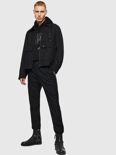 Diesel - P-JARED-WOOL, Black - Pants - Image 5