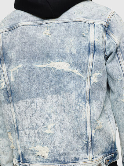 Diesel - NHILL, Light Blue - Denim Jackets - Image 3