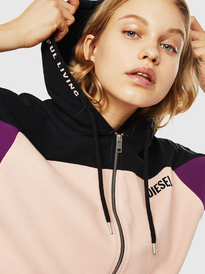 Diesel - UFLT-PHYLOSH-HOOD, Black/Pink - Sweaters - Image 4
