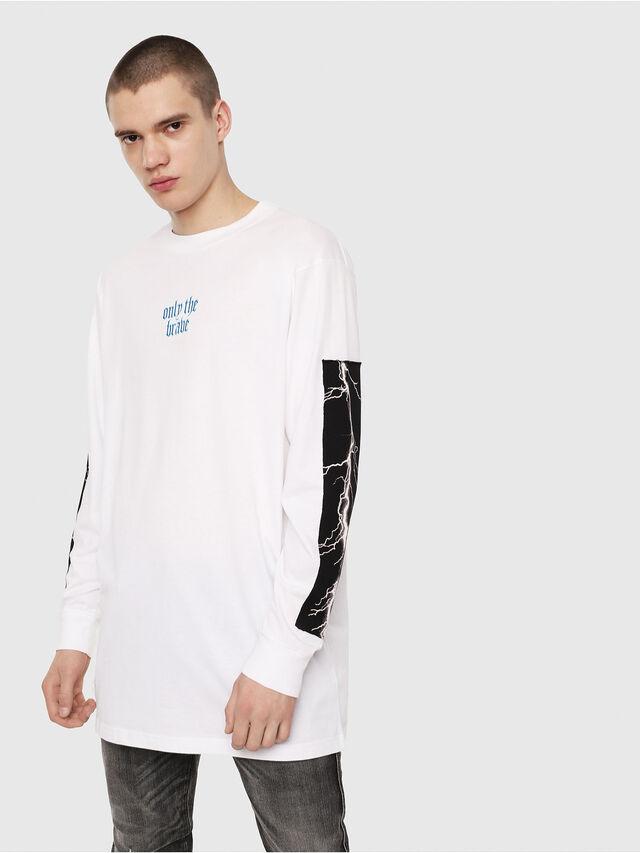 Diesel - T-LUCAS-LS-Y2, White - T-Shirts - Image 4