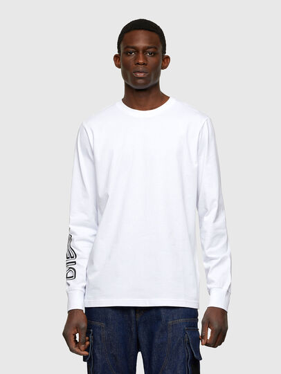 Diesel - T-JUST-LS-A7, White - T-Shirts - Image 1