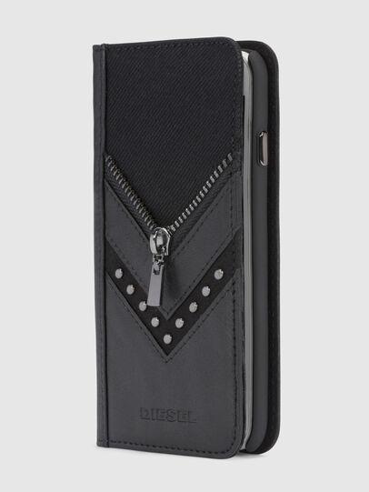 Diesel - BLACK DENIM/STUD/ZIPPER IPHONE X FOLIO,  - Flip covers - Image 4