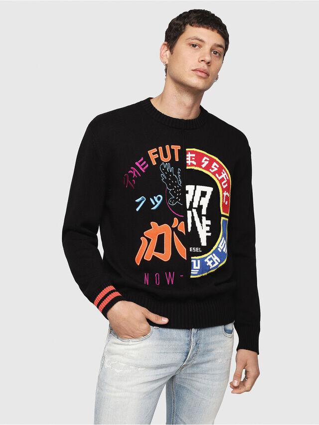 Diesel - K-FUT, Multicolor/Black - Knitwear - Image 1