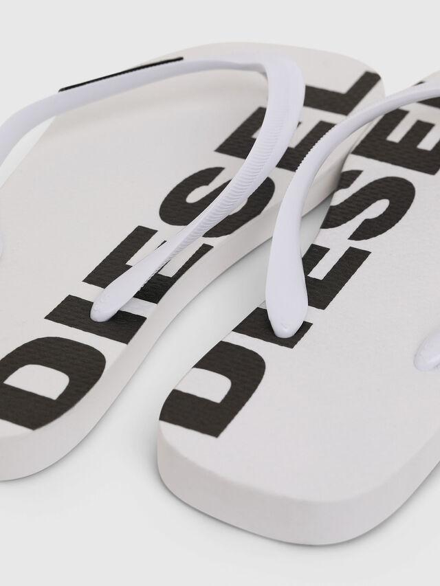 Diesel - SA-BRIIAN W, White/Black - Slippers - Image 4