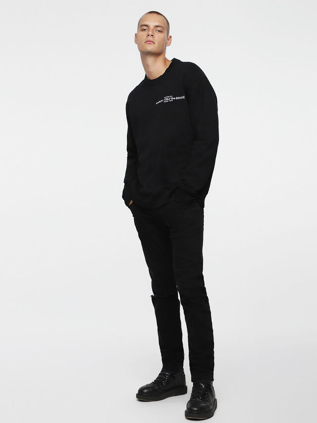 Diesel - S-ELLIS-CL, Black - Sweaters - Image 4