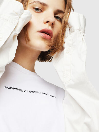Diesel - T-SILY-WR, White - T-Shirts - Image 5