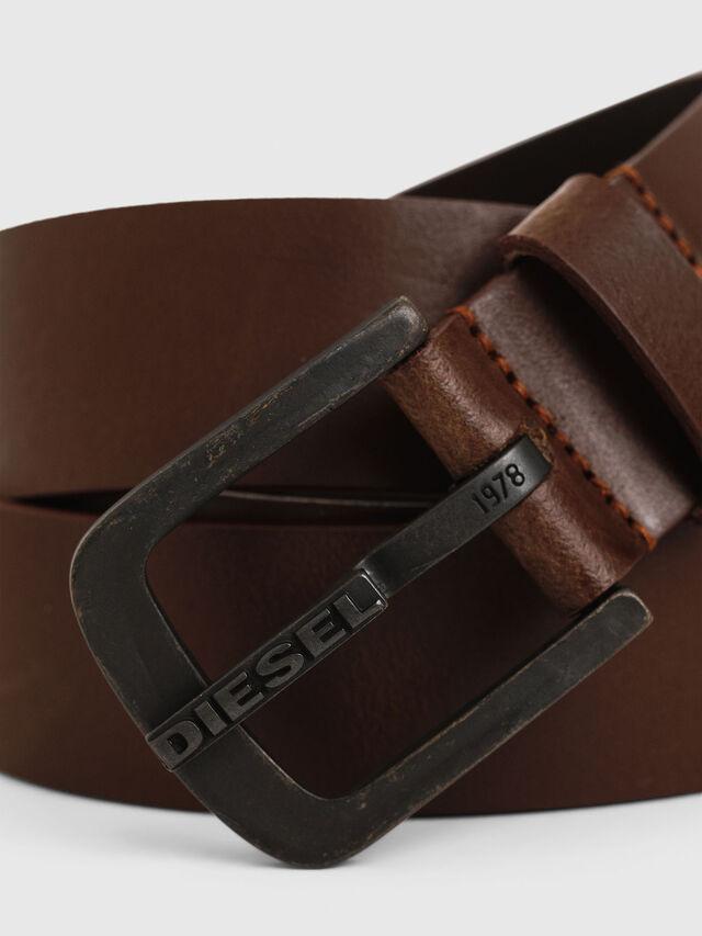 Diesel - B-DART, Brown Leather - Belts - Image 2
