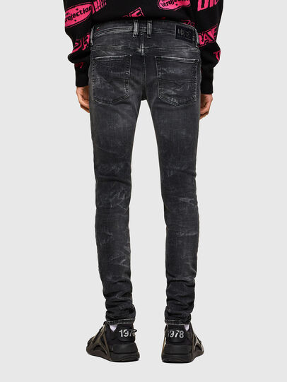Diesel - Sleenker 009QA, Black/Dark grey - Jeans - Image 2