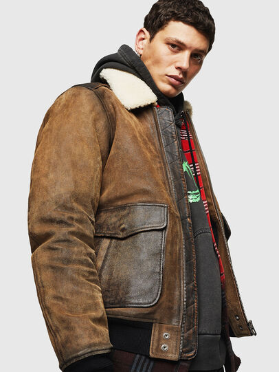 Diesel - L-OIUKIRO,  - Leather jackets - Image 3