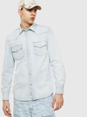 D-EAST-P, Light Blue - Denim Shirts