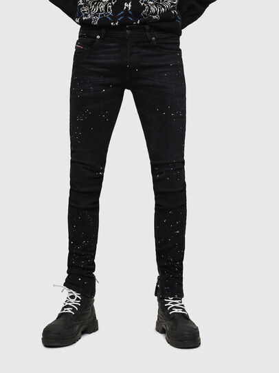 Diesel - Sleenker Zip 0093X, Black/Dark grey - Jeans - Image 1