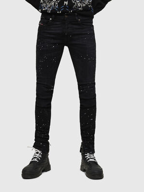 Sleenker Zip 0093X, Black/Dark grey - Jeans
