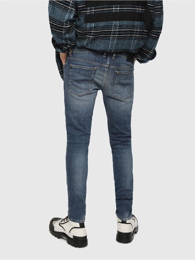 Diesel - Sleenker 082AB, Dark Blue - Jeans - Image 2