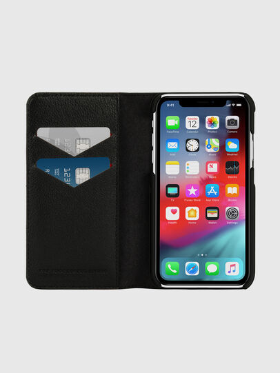 Diesel - DIESEL 2-IN-1 FOLIO CASE FOR IPHONE XR, Black/White - Flip covers - Image 7