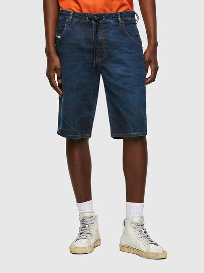 Diesel - D-KROOSHORT-Y JOGGJEANS, Dark Blue - Shorts - Image 1