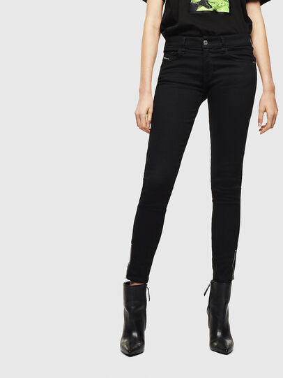 Diesel - Slandy Low 069EF, Black/Dark grey - Jeans - Image 1