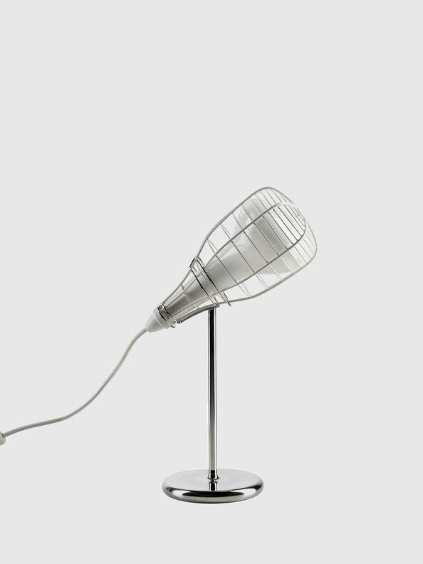 CAGE MIC BIANCO,  - Table Lighting