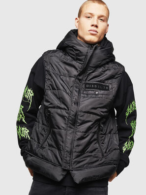 W-SUN-REV-SLESS, Black - Winter Jackets
