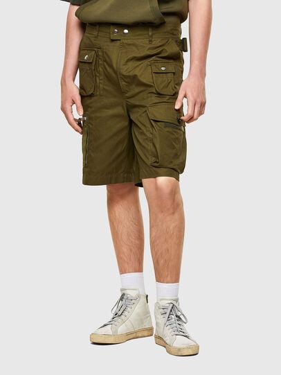 Diesel - P-CYAN-SHORT, Military Green - Shorts - Image 1