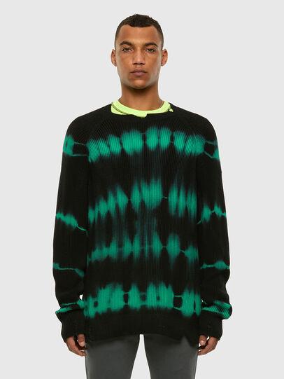 Diesel - K-TONI, Black/Green - Knitwear - Image 4