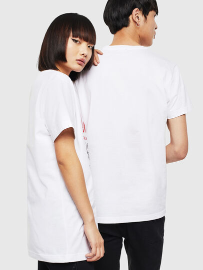 Diesel - CL-T-DIEGO-1, White - T-Shirts - Image 3