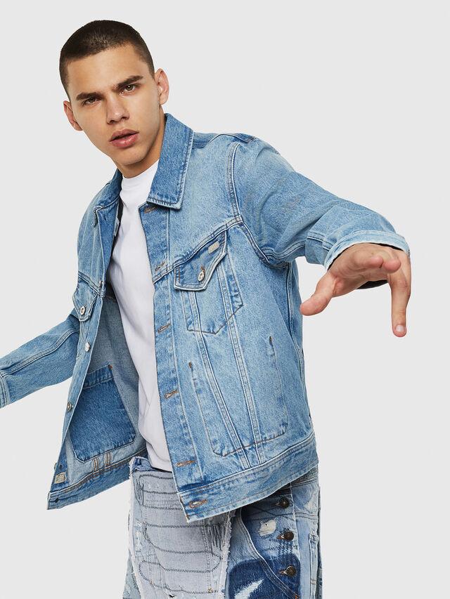 Diesel - D-BRAY, Blue Jeans - Denim Jackets - Image 4