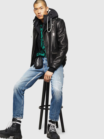 Diesel - L-GOTIV, Black - Leather jackets - Image 7