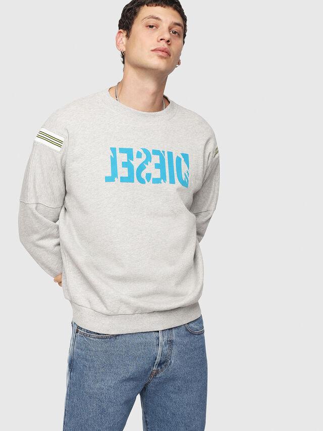 Diesel - S-RADIO, Light Grey - Sweaters - Image 1