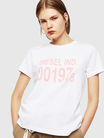 Diesel - T-SILY-001978, White - T-Shirts - Image 1