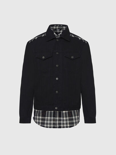 Diesel - NHILL-C, Black - Denim Jackets - Image 1