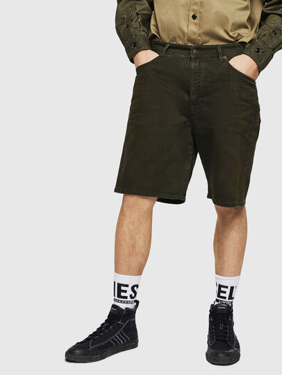 Diesel - D-WILLOH, Dark Green - Shorts - Image 1