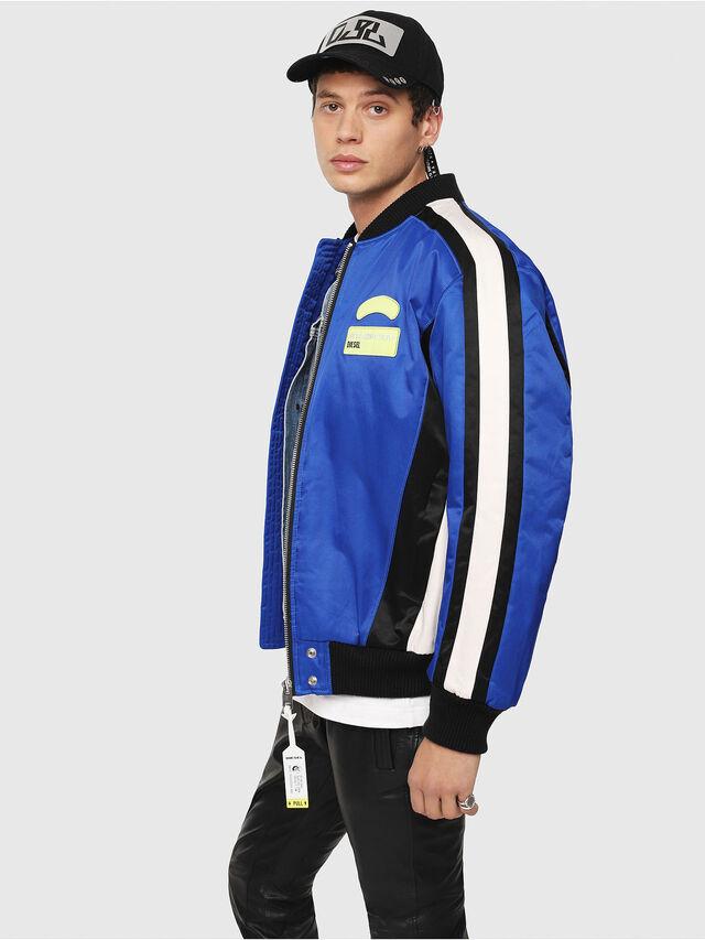 Diesel - J-RYUU, Blue - Jackets - Image 3