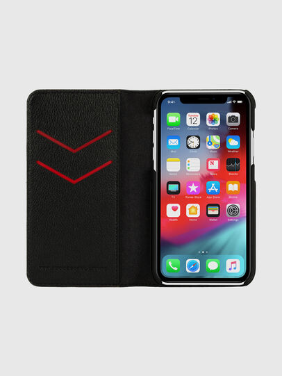 Diesel - DIESEL 2-IN-1 FOLIO CASE FOR IPHONE XR, Black/White - Flip covers - Image 6