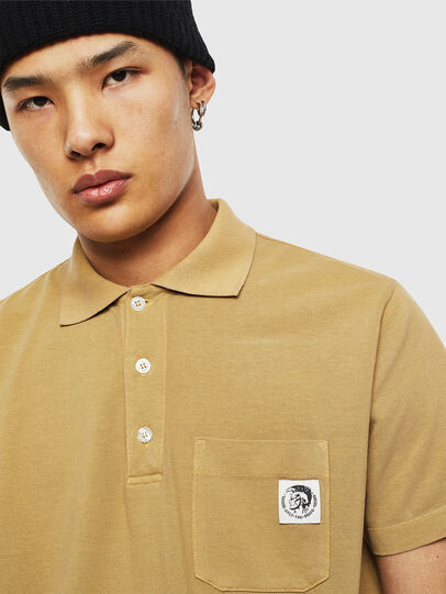 Diesel - T-POLO-WORKY, Light Brown - Polos - Image 3