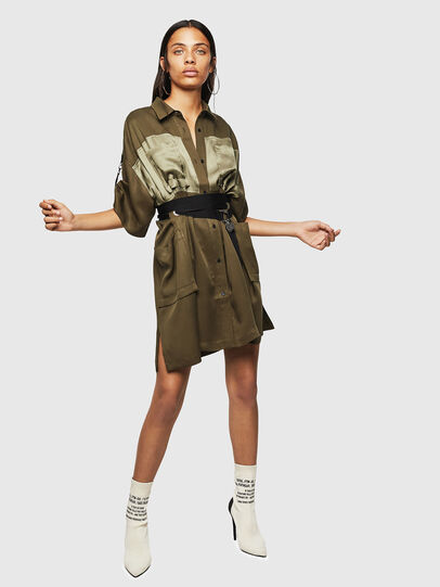 Diesel - D-TIEP, Military Green - Dresses - Image 5