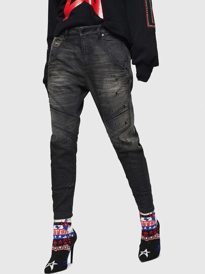 Diesel - Fayza JoggJeans 069GN, Black/Dark grey - Jeans - Image 1