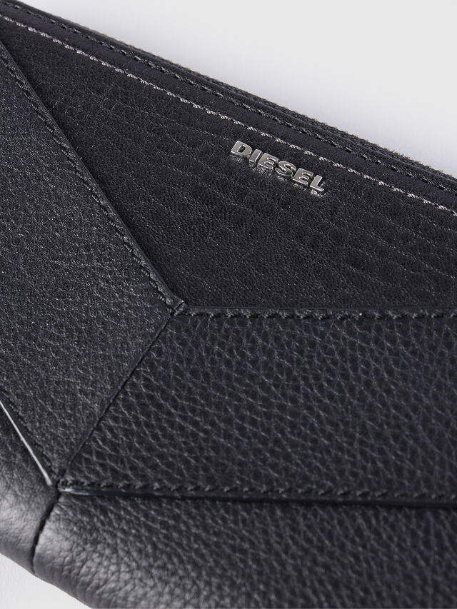 Diesel GRANATO, Black Leather - Zip-Round Wallets - Image 3