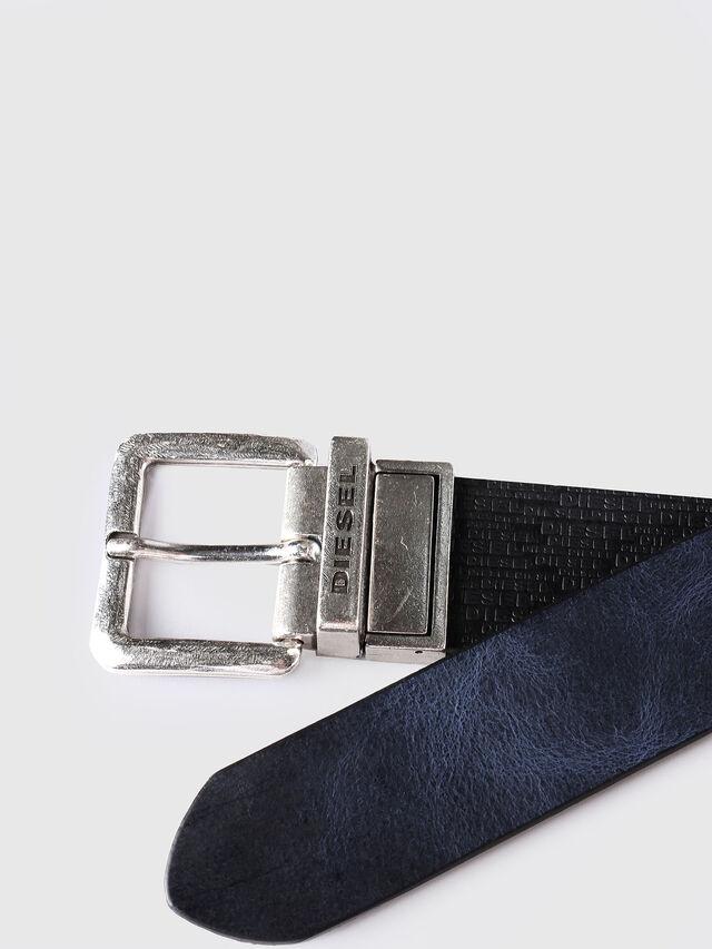 Diesel - B-TWIN, Black/Blue - Belts - Image 3